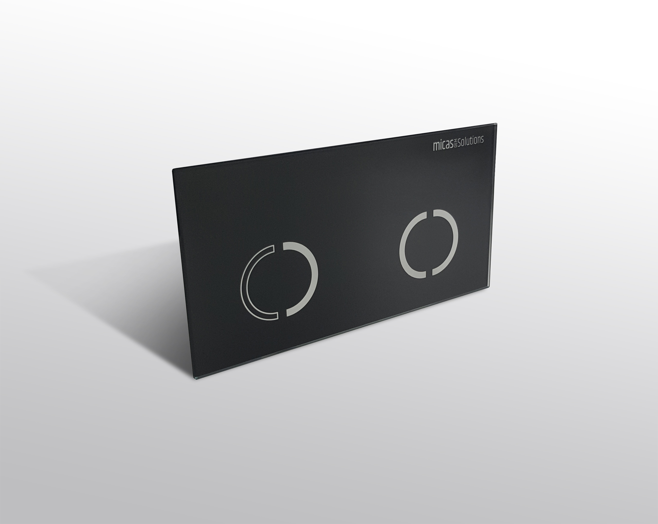 WC control plate for different sensor technologies